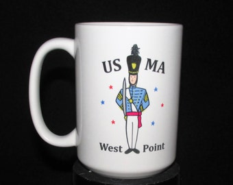 West Point coffee mug,west point coffee cup,usma,military academy,cadet,army mug,west point moms,cadet gifts,west point gifts,black knights