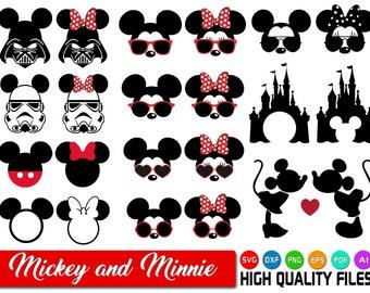 Mickey mouse SVG - Minnie mouse SVG - Mickey and Minnie SVG - Disney cut files - Star wars Mickey - Star wars Minnie - Disney clipart