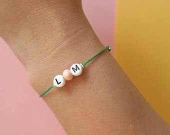 Letter Bracelet Initials BEST friend/Anniversary