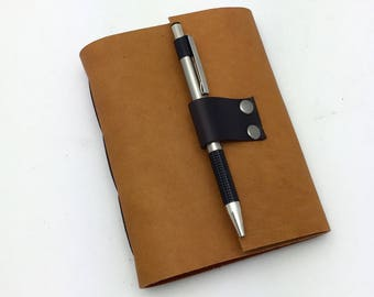 Wine Journal in Amber Leather - in stock