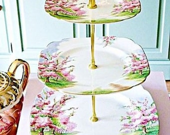 Royal Albert Blossom Time 3 tier cake stand