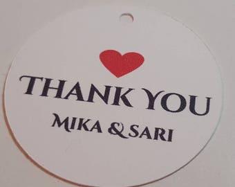 Wedding favor/gift tags