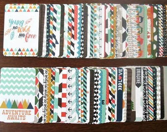 EXPLORE EDITION Partial 1/4 Core Kit 154 Cards 3x4+4x6 Project Life Becky Higgins Pocket Page Planner Scrapbook
