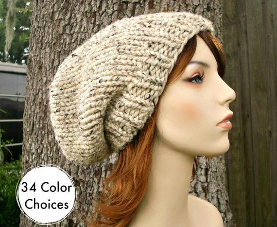 Knit Hat Womens Hat Slouchy Beanie Mens Hat Slouchy Hat