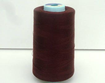 Sewing thread cone plum poly-cotton