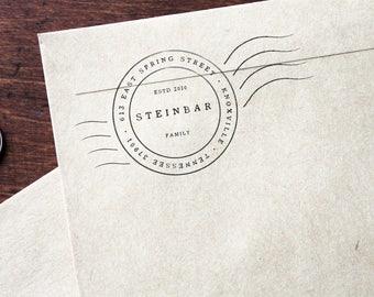 Address Stamp - Custom Return Address Stamp - Rubber Stamp - Custom and Personalized Stamp, Housewarming Gift (Vol4, Vrs4)