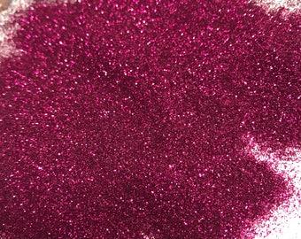 Fine bright pink glitter sparkly 10g bag nail art