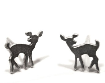 Forest Fawn Studs - Patina Finish