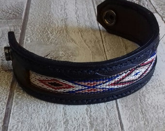 Native Indian Leather Cuff