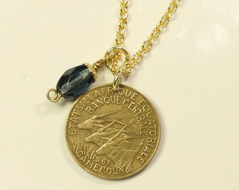SALE Cameroon Coin Necklace FREE SHIPPING