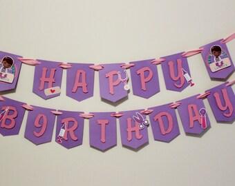 Doc Mcstuffins - Happy Birthday Banner