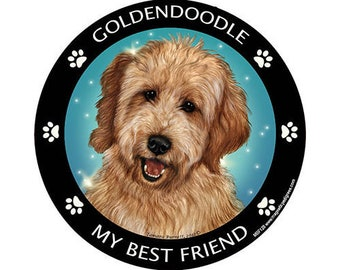 Goldendoodle My Best Friend Dog Magnet