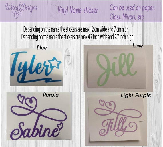 Name sticker name decal journal decal vinyl decal mug name planner name vinyl sticker water bottle sticker journal name custom name from