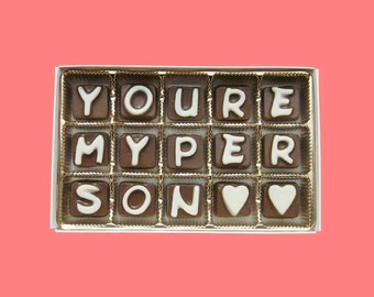 You Are My Person Girlfriend Gift Friendship Gift for BFF Best Friend Gift Funny Boyfriend Gift Idea Birthday Cute Box Chocolate Message