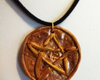 Lovecraftian amulet necklace signed old