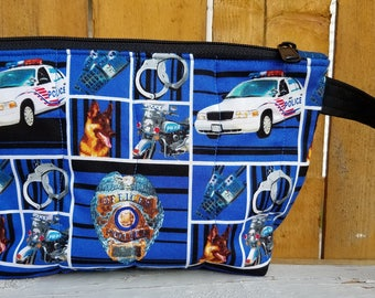 Police Quilted Wristlet