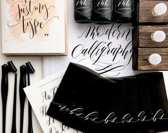 Calligraphy Starter Kit - Learn Modern Calligraphy - Beginner's Modern Calligraphy Supply by Angelique Ink