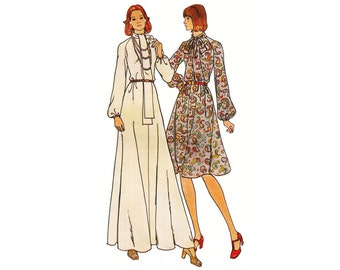 1970s Butterick 3943- Woman's Loose-Fitting, Flared Dress Size 14   Bust 36in /80cm   Vintage Sewing Pattern UNCUT
