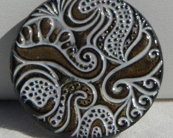 Curls Czech Glass Button