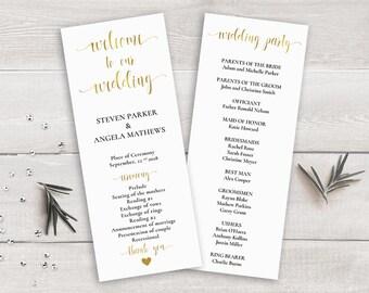 wedding program ceremony