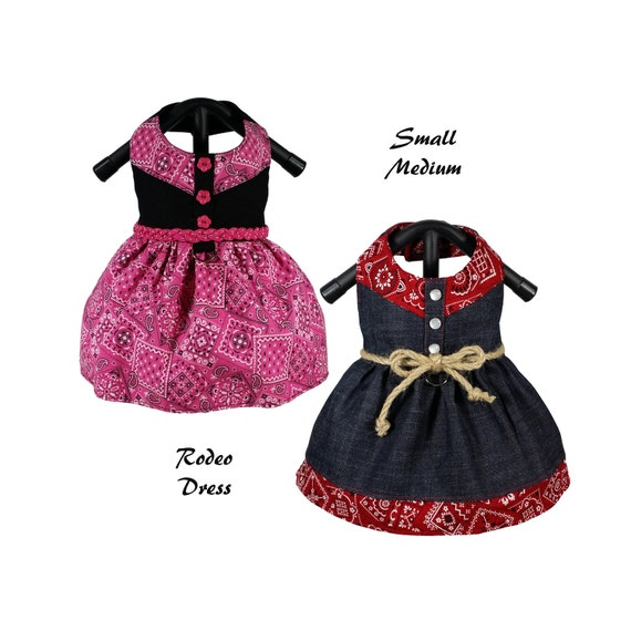 Rodeo Dog Dress Pattern SMALL & MEDIUM Dog Clothes Sewing
