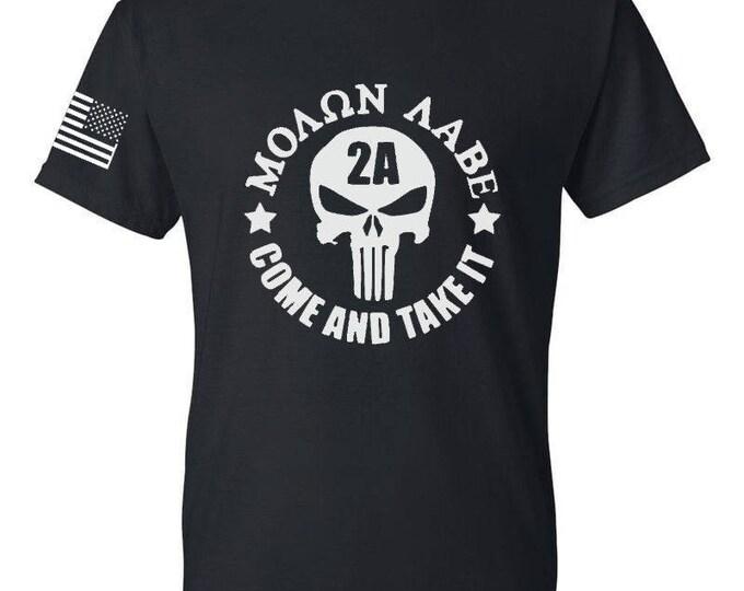 2A - Molon Labe v.02 - Three Percenter - Gun Rights - America - Gym Shirt - Workout Shirt - 2nd Amendment