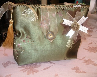 Chinese brocade lingerie bag