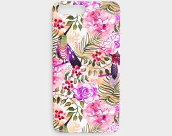 Hummingbird Watercolor Floral iPhone 7/8 Plus Case