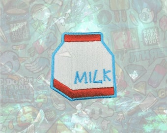 Milk Patch Cute Patch Iron on Patch Sew On Patches