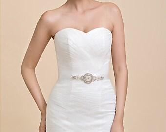 Bridal Sash Belt Wedding Dress Sash Belt Rhinestone Wedding Sash Belt Rhinestone Sash Belt Ivory Ribbon SA026LX