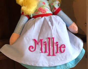MONOGRAMMED PERSONALIZED Rag Doll - Great Gift !!
