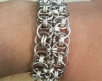 Made To Fit Handmade Chainmaille Helm Weave Bracelet