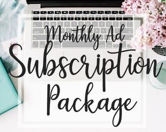 Social Media Subscription - Monthly Ad Subscription - Social Media Designs - Graphic Design - Holiday Ads - Social Media Ad