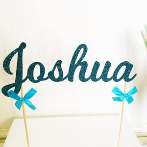 Name Cake Topper, Custom Glitter Cake Decoration, Personalised, Customised, Sparkle Decor, Special Occasion, Bespoke, Name Topper