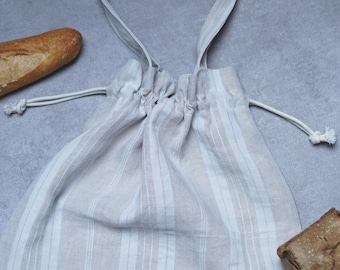 Recycled ticking bread bag