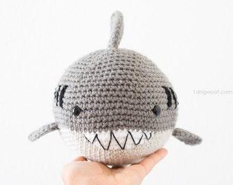 Bernard the Ball Shark Amigurumi Softie Crochet Pattern