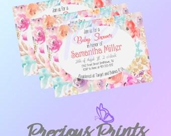 Printable Pastel Baby Shower Invitation
