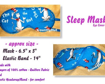 CAT in the HAT / Sleep Mask  / travel mask sleeping eye cover -