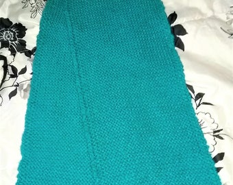 A turquoise scarf.