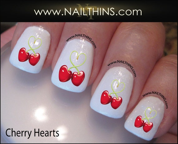 - CHERRY Nail Decal Valentine Nail Design NAILTHINS