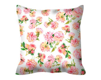 shabby chic pillow decorative pillow shabby chic decor floral pillow shabby chic cushion floral cushion shabby chic rose pink pillow