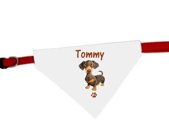 Necklace personalized with name Basset dog bandana