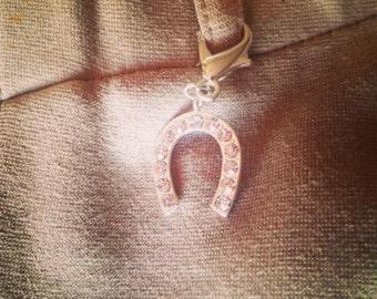 Horseshoe zipper/belt loop charm