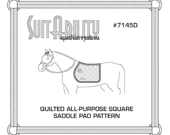 PDF Quilted Square All Purpose Saddle Pad Pattern