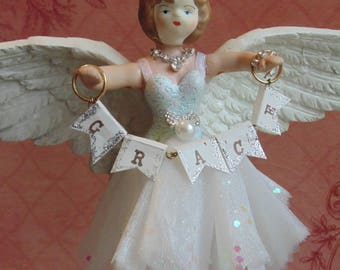 SALE!!! Grace Ballerina Angel Art Doll Assemblage