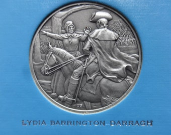 DAR The Great Women of the American Revolution-Darragh,Draper,Elliott— Fine Pewter Medals-Franklin Mint-1974-Mother's Day