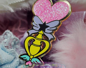 Candy Pop Heroine Scepter Pin | Shojo Kawaii Gold Plated Hard Enamel Pin