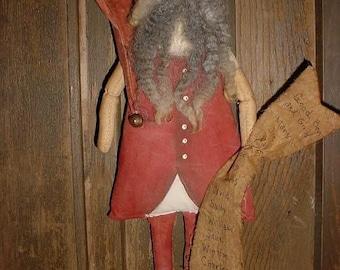 Primitive Santa Doll E-Pattern