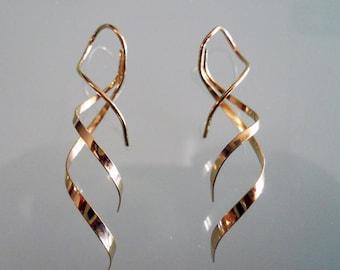Double Mini Thread Earrings 14k Gold Filled