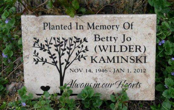 "Tree Dedication plaque. Maintenance Free 12""x8""x3/8"""